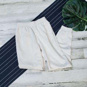 VS PINK  Jogger Sweatpants Cream Fleece Size XS